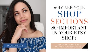 Etsy For Beginners: Why You Should Never Ignore Your Shop Sections!