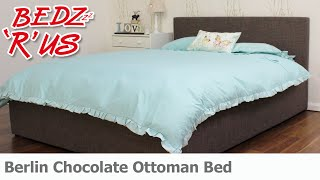 Berlin Chocolate Ottoman Bed - Bedzrus