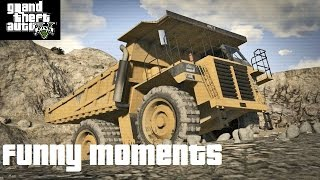 GTA V Funny Moments: Dump Truck Police Chase, Rooftop Derby, Hiking Trip, Police Fail