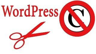 видео Как убрать надпись «Сайт работает на WordPress»: инструкция