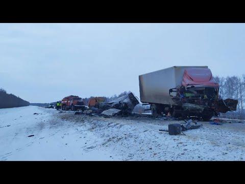 """Шесть человек погибли в ДТП с участием """"Газели"""" и грузовика на трассе в Тамбовской области"""