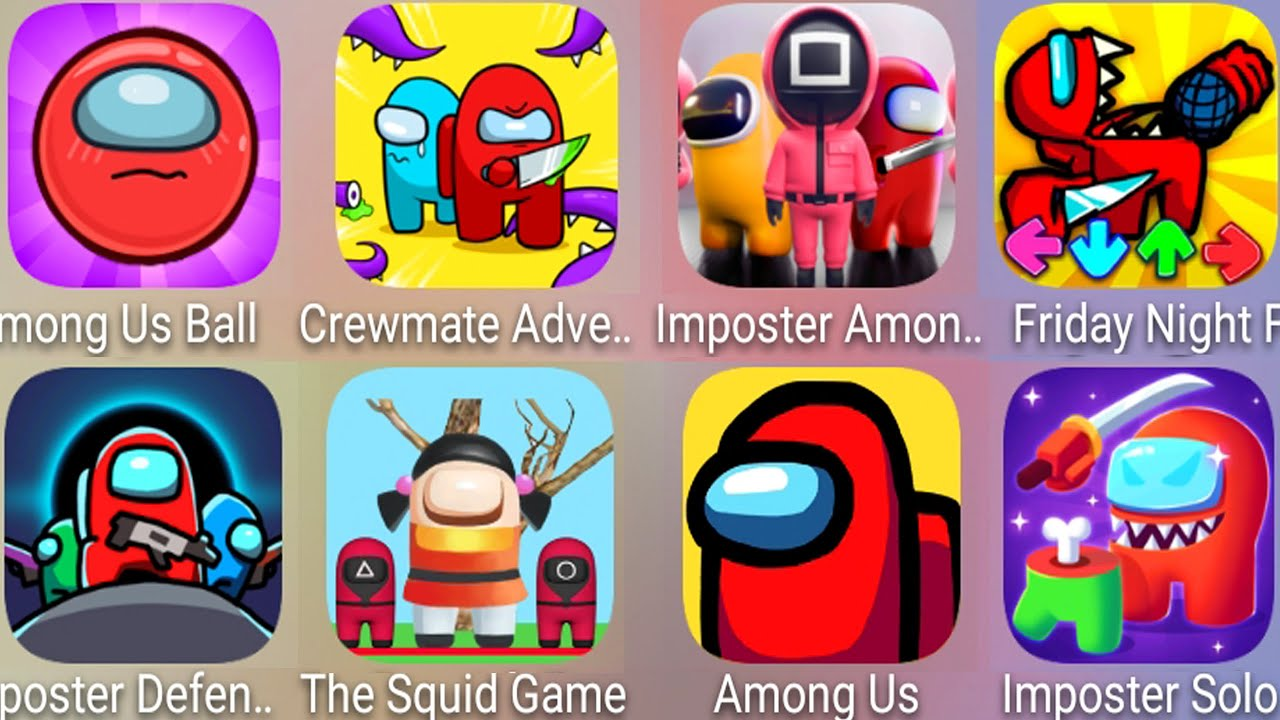 Download Imposter Among Squid Games,FNF Imposter Among Us,Crewmate Adventure,Imposter Solo,Imposter Defense..