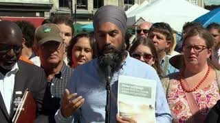 NDP Leader Jagmeet Singh in Kingston, Ont. on Day 4 of election campaign