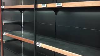 Empty shelves of paper products at Cold Storage supermarket in Great World City - The Straits Times
