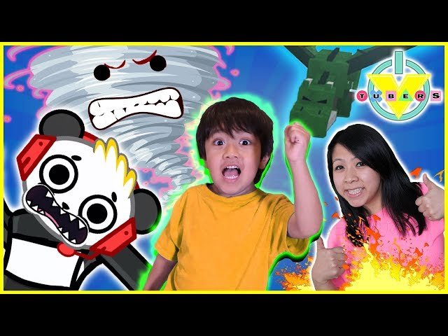 Roblox Escape the Disasters Lets Play with Ryan, Combo Panda, and MORE!