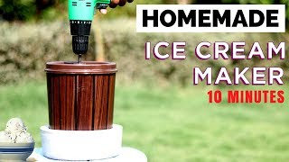 How To Make Ice Cream Machine at Home | Summer Life Hack