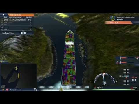 TransOcean TSC - ULCV Container Ship Maneuvering Gameplay HD