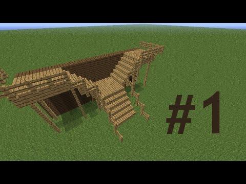 Minecraft Jak Zbudowac Ciekawe Schody 1 Youtube