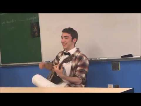 Common Ground High School Class of 2017's Alex performs on the guitar