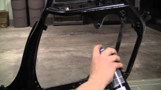 Cafe Racer Build : Part 21 :Painting Frame Using VHT Roll Bar Paint