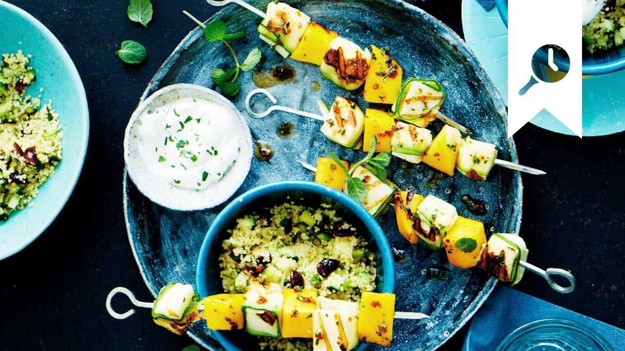 Rezepte Für Gasgrill Vegetarisch : Mango halloumi spieße rezept vegetarisch grillen edeka youtube