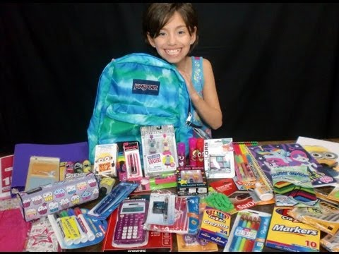 Girls Back To School Supplies Haul + Givewaway! KidToyTesters