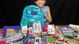 Repeat youtube video Girls Back To School Supplies Haul + Givewaway!!! -KidToyTesters (Closed)