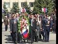 Церемония возложения венков к обелиску героям Великой Отечественной Победы.