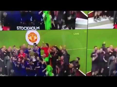 Celebrating Europa league final
