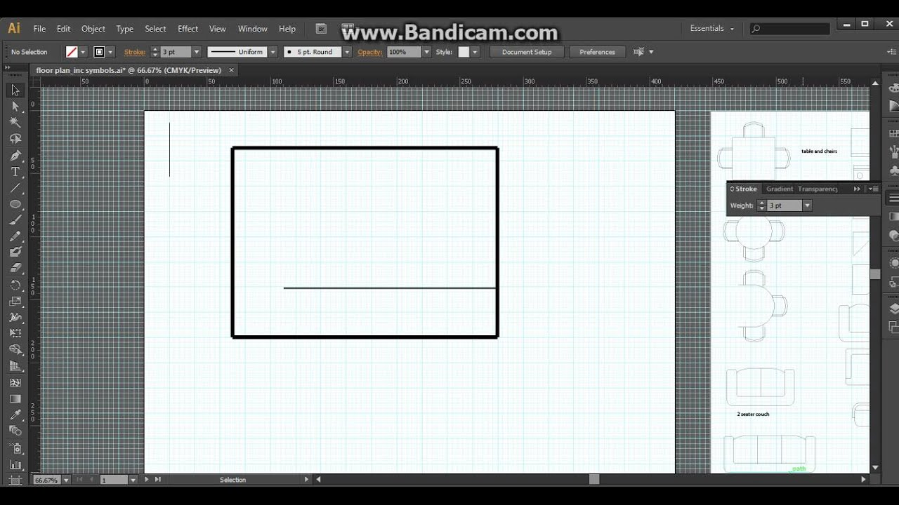 Floor plan illustrator 1 youtube for Adobe floor