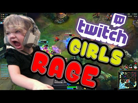 TOP 5 Twitch Girls RAGE Compilation. League Of Legends.