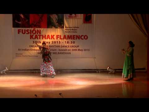 KATHAK - FLAMENCO- FUSION organised by Rhythm Dance Group- Hosted by Melbandhan- at Kuwait