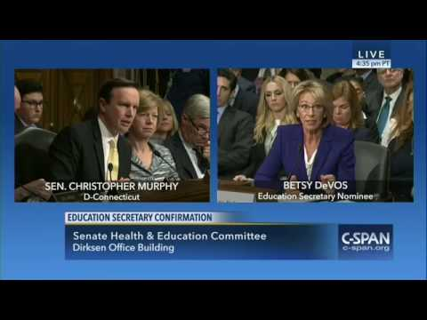 U.S. House of Representatives Special Orders Chris Murphy confronts Betsy DeVos over guns in schools