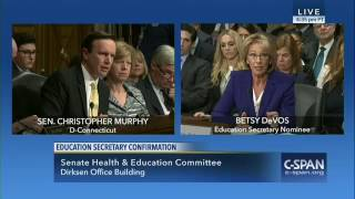 U.S. House of Representatives Special Orders Chris Murphy confronts Betsy DeVos over guns in schools by : TP Clips 8