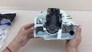 Двигатель бензопилы Stihl MS 180. Обзор и комплектация.
