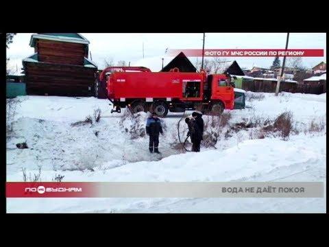 Угроза подтопления возникла в Тулуне в середине зимы
