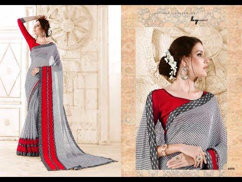 Senses || Georgette Saris || Beautiful Sarees || Buy Online || Surat Textile Bazaar