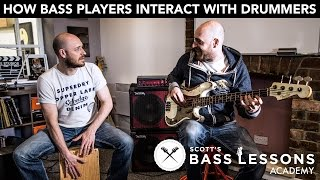 How Bass Players Interact with Drummers: Being Conversational with the Kick Drum /// Bass Lesson