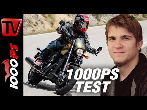 1000PS Test - Harley-Davidson Street Rod - das neue Fohlen im Harley Stall