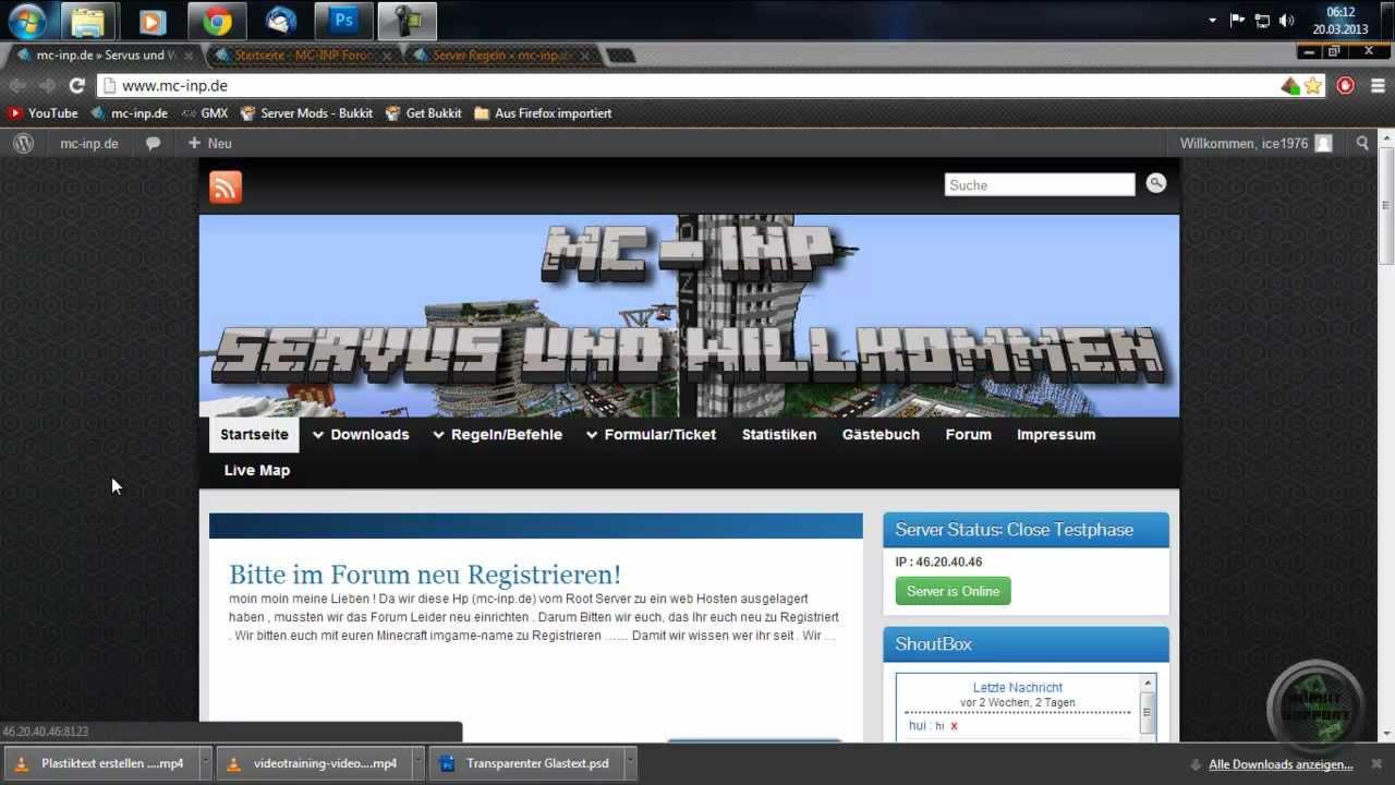Moderner INFO Videobanner Teil Erstellen Photoshop By - Minecraft server regeln erstellen