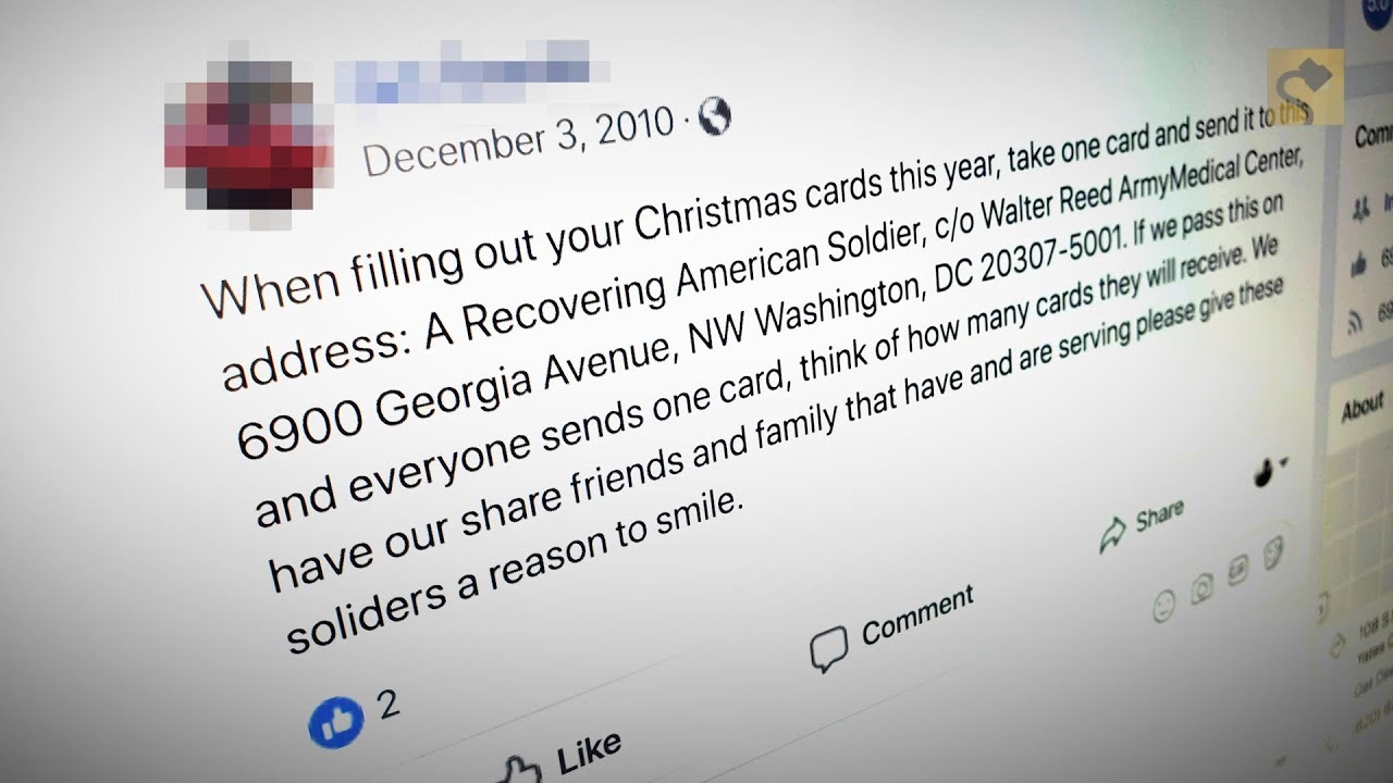 Addressed Christmas Cards.Does Walter Reed Hospital Accept Holiday Cards Addressed To A Recovering American Soldier