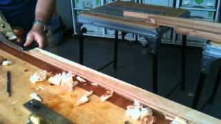 Planing A Moulding Down To A Gauge Line Using Hand Planes