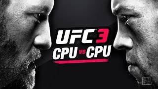 EA Sports UFC 3 BETA - CPU vs CPU on the Hardest Difficulty ft. Nate Diaz & Conor Mcgregor