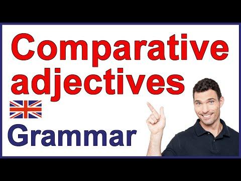 Comparative adjectives | English grammar lesson