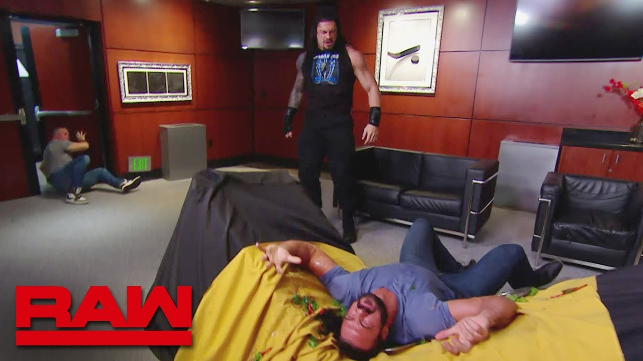 Download Roman Reigns storms into Shane McMahon's VIP room: Raw, June 17, 2019