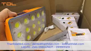 Pin sạc dự phòng + đèn led dùng bằng năng lượng mặt trời   Dung lượng 15000 mAh sạc được điện 220v
