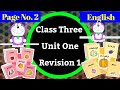 Class three englishpage number 2revision 1unit oneeducational