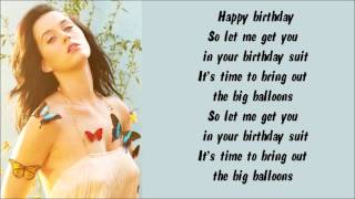Katy Perry - Birthday Karaoke / Instrumental with lyrics on screen