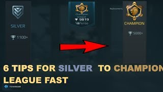 War Robots - 6 Tips For New League System And Go Silver League To Champions League Fast