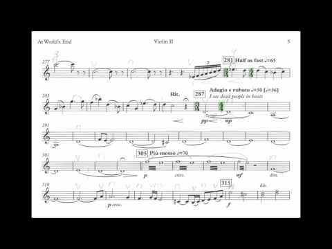 At World's End Suite from Pirates of the Carribean   2nd violin score