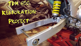 TDM 850 restoration Part 11 (Painting & fitting the swingarm)