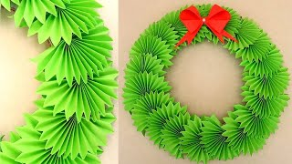 Paper Wreath for Christmas | DIY Christmas Decorations Ideas. New Year Decor by Julia Datta