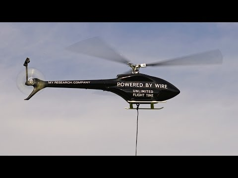 Ecilop Observer - tethered helicopter powered by wire
