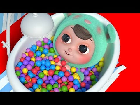 Thumbnail: Learn Colors for Children with Ball Pit Show - Baby Doll Bath Colors for kids to learn by Edukids