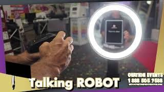 Talking Boomerang Robot Photo booth Nyc Long Island