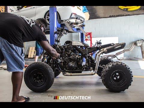 DMO DeeJay Visits for a Custom R1 Quad Exhaust!