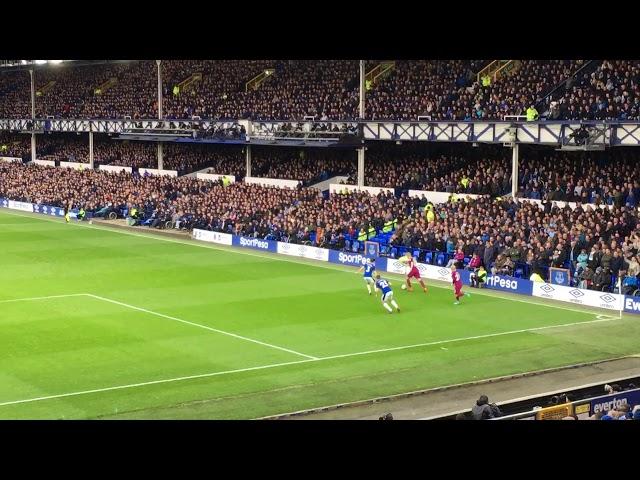 Everton 1-3 Manchester City Leroy Sane Goal 31/03/2018 Matchday 31