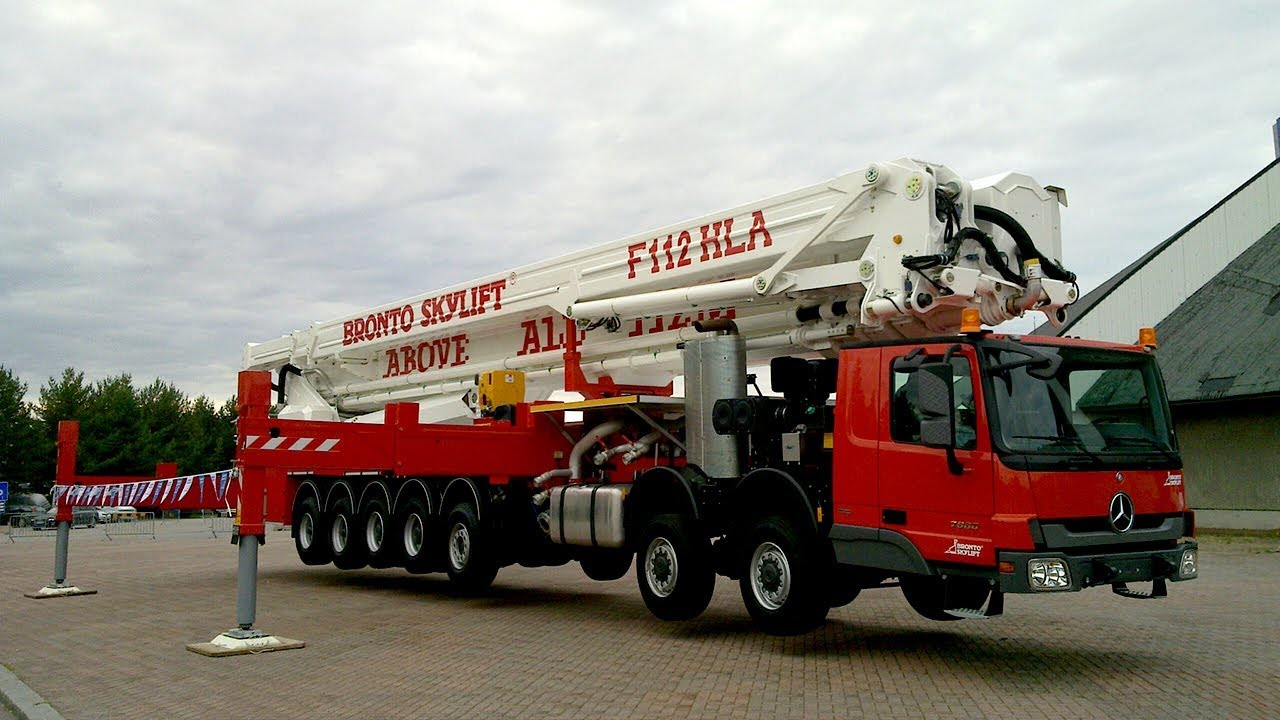 The Tallest Firefighting Aerial Device in the World - Bronto Skylift F112  HLA