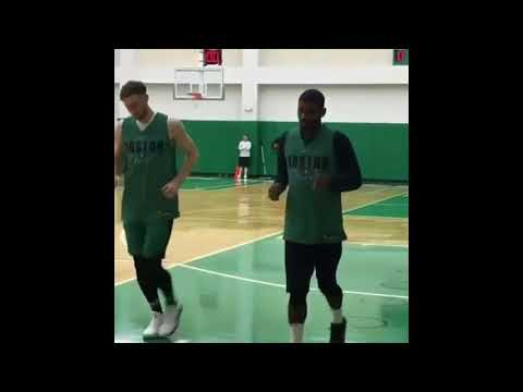 Kyrie Irving and Gordon Hayward back in the GYM 💪🔥