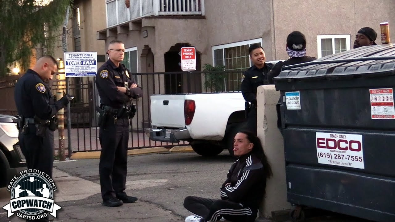 Copwatch | Loitering in Parking Lot | Cited for Open Container
